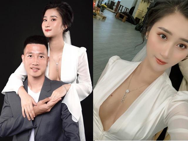 Hot girl Hải Phòng khoe vòng một táo bạo trong bộ ảnh cưới với cầu thủ tuyển Việt Nam