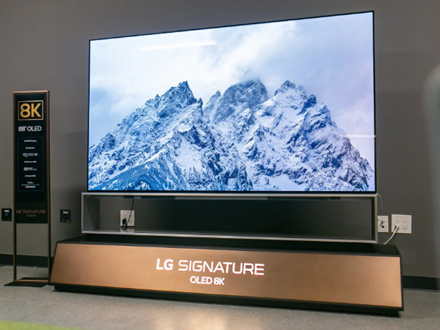 LG bất ngờ công bố TV OLED 8K 88 inch lớn nhất thế giới