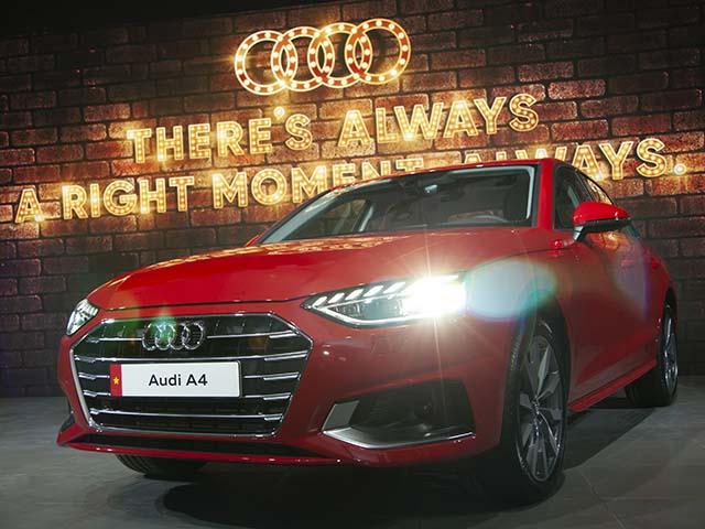 Cận cảnh mẫu xe sedan Audi A4 vừa ra mắt tại Việt Nam