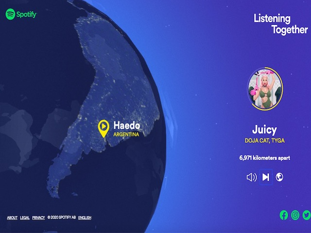 Spotify has one more cool feature: Discover who is listening to the same song