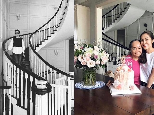 Không phải biệt thự trắng triệu đô nhà chồng, Tăng Thanh Hà đang sống trong cơ ngơi đẹp như tranh