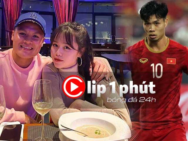 """Quang Hải khoe bạn gái mới, có bị """"soi"""" kỹ như Công Phượng? (Clip 1 phút Bóng đá 24H)"""
