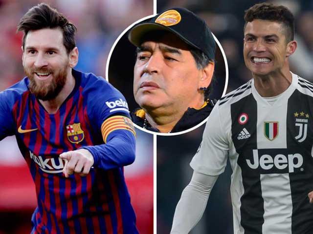 Ngỡ ngàng lý do Ronaldo không thể chung đội với Messi và Maradona