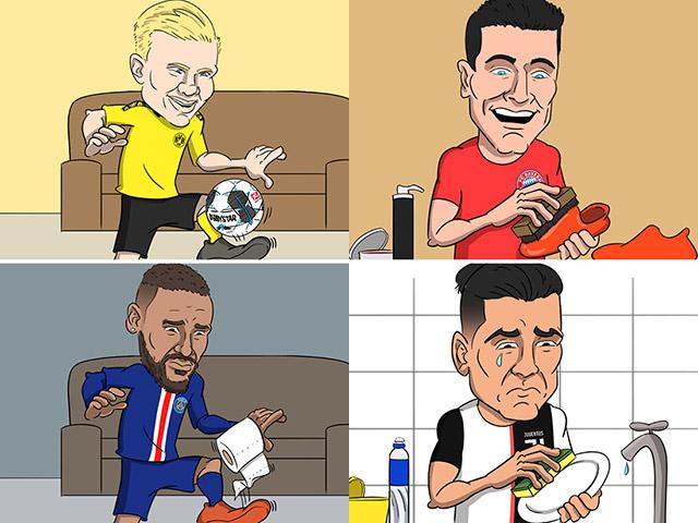 Ảnh chế: Các ngôi sao bóng đá buồn bã trong ngày Bundesliga trở lại sau dịch