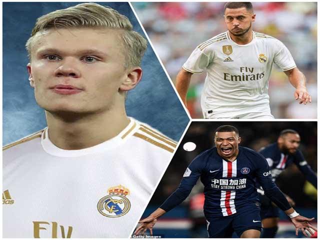"Tam tấu 500 triệu euro của Real: ""Bố già"" chốt Haaland - Hazard - Mbappe"
