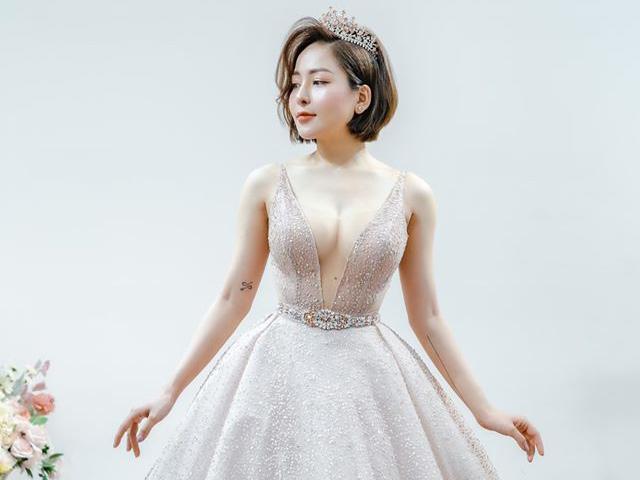 Trâm Anh, Nhã Phương... mặc váy cưới tôn vòng 1
