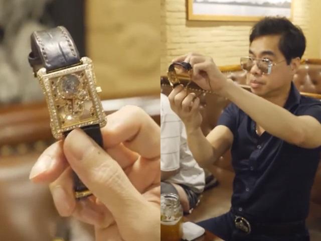 """""""Ông hoàng nhạc sến"""" Ngọc Sơn khoe đồng hồ 6,5 tỷ, trên thế giới chỉ có 30 cái"""