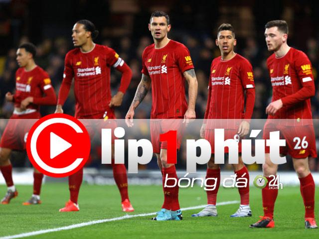 """Liverpool nhận tin """"sét đánh"""", cay đắng vô địch Ngoại hạng Anh (Clip 1 phút Bóng đá 24H)"""