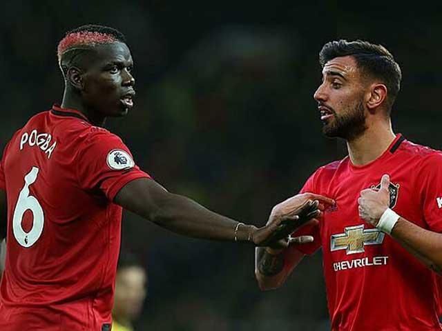 "Pogba đá cặp Fernandes: Huyền thoại MU lo ""xịt"" kiểu Gerrard – Lampard"