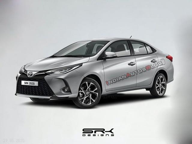 Toyota Vios 2021 facelift lộ hình ảnh phác thảo, diện mạo thể thao và cá tính hơn