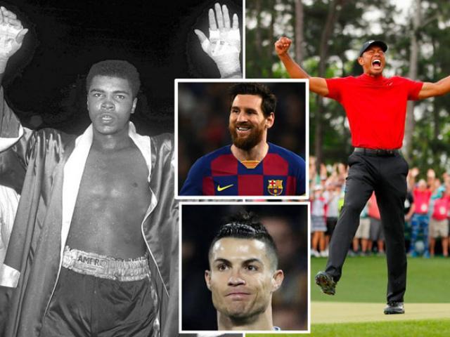 Messi trong top 10 VĐV vĩ đại nhất lịch sử, Ronaldo-Mayweather ra rìa