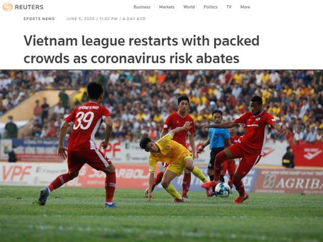 Báo thế giới thán phục trận đấu 3 vạn fan khi V-League trở lại tưng bừng