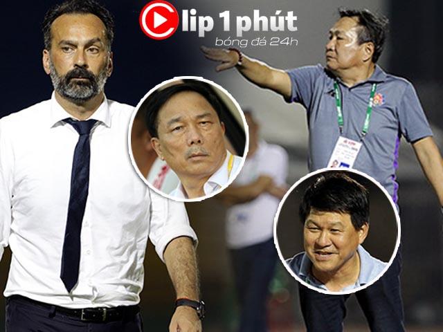 Đáng sợ ghế HLV có 4 chân, cầu thủ nắm 3 chân ở V-League (Clip 1 phút Bóng đá 24H)