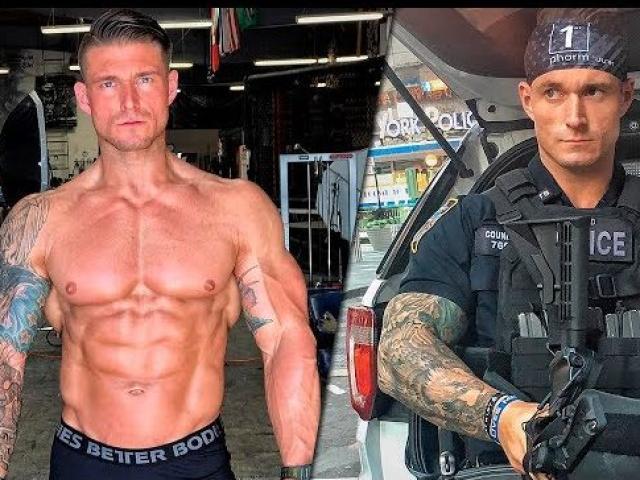 """Cảnh sát cơ bắp khổng lồ """"xăm trổ hổ báo"""": Tội phạm được khuyên tránh xa"""