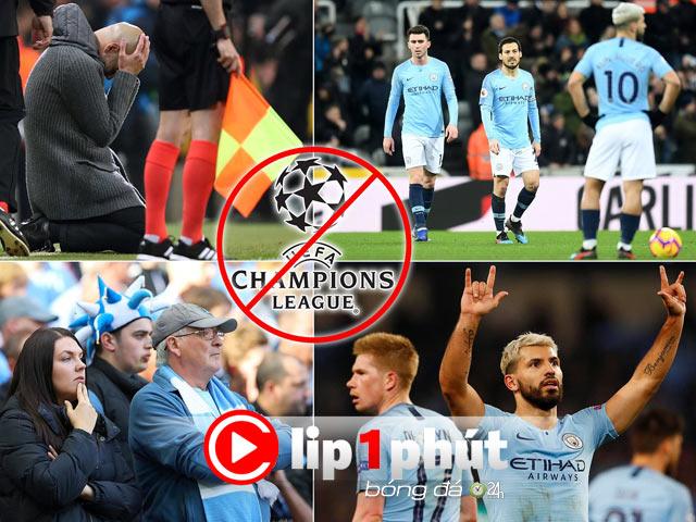 """Man City ra tòa, đối mặt đòn """"trời giáng"""" Cúp C1 (Clip 1 phút Bóng đá 24H)"""