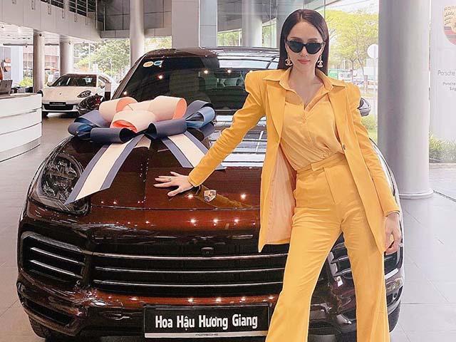 Hoa hậu Hương Giang tậu Porsche Cayenne 2020 giá gần 5 tỷ đồng