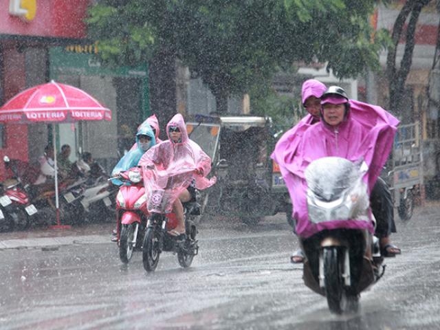 Miền Bắc mưa to do ảnh hưởng của bão số 1, miền Trung nắng nóng diện rộng