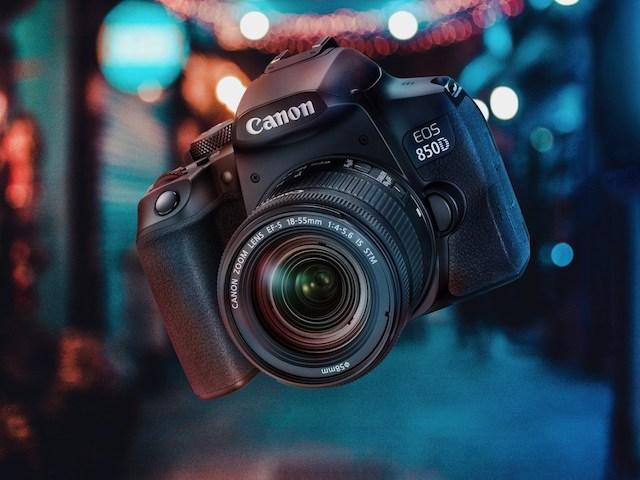 """Máy ảnh Canon EOS 850D trình làng: Màn hình xoay, ISO """"khủng"""", có Wi-Fi"""