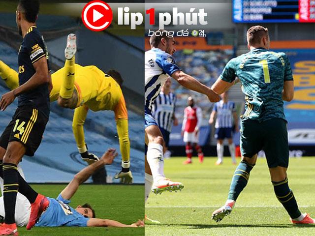 Kinh hoàng chấn thương khi Ngoại hạng Anh đá trở lại (Clip 1 phút Bóng đá 24H)