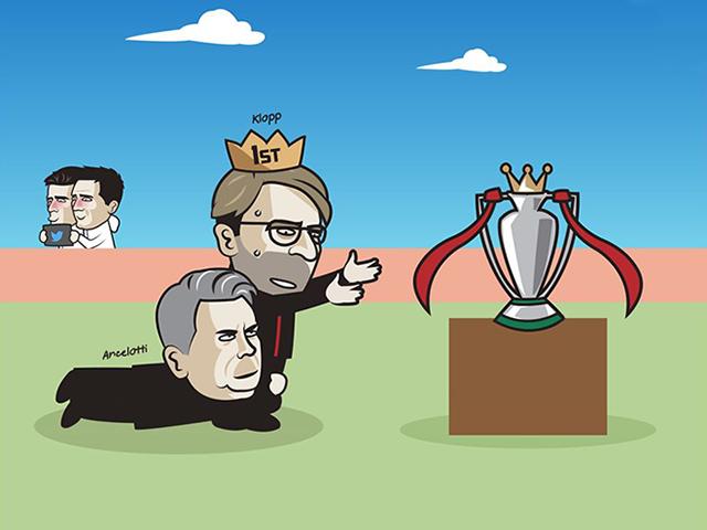 Ảnh chế: Hòa Everton, Liverpool lỡ hẹn nâng cúp vô địch ngoại hạng Anh