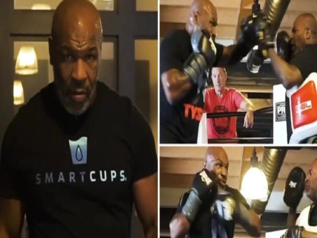 """Mike Tyson điên cuồng """"luyện công"""": Ra đòn như vũ bão, nô nức triệu fan"""