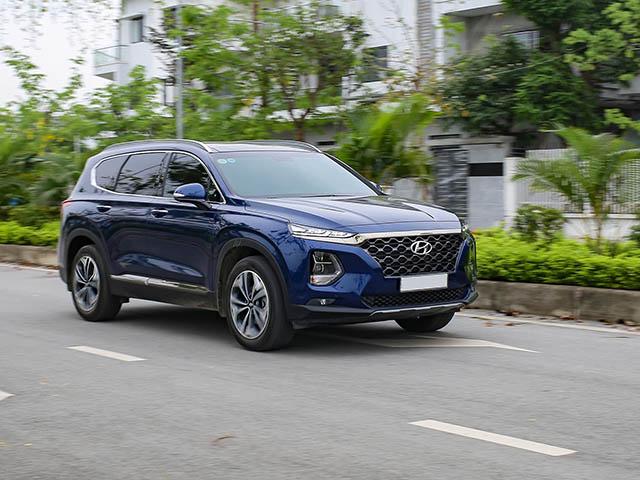 Giá xe Hyundai Santa Fe lăn bánh tháng 4/2021