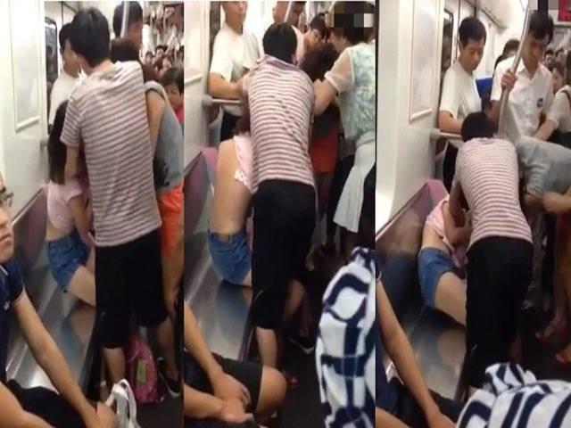 Thiếu nữ bị xé áo vì tranh cướp chỗ ngồi trên tàu điện ngầm