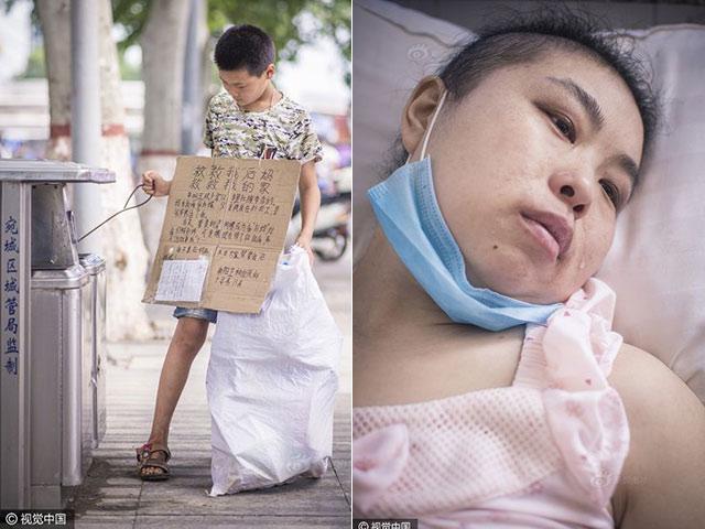 Cậu bé nhặt rác kiếm tiền chữa ung thư cho mẹ kế