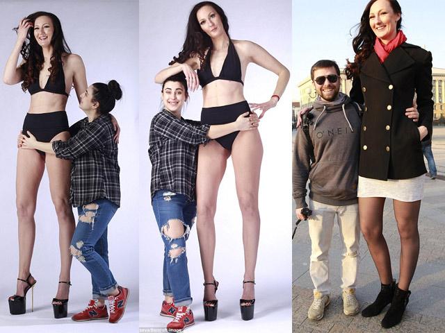 """Cô gái """"khổng lồ"""" có đôi chân dài nhất thế giới"""
