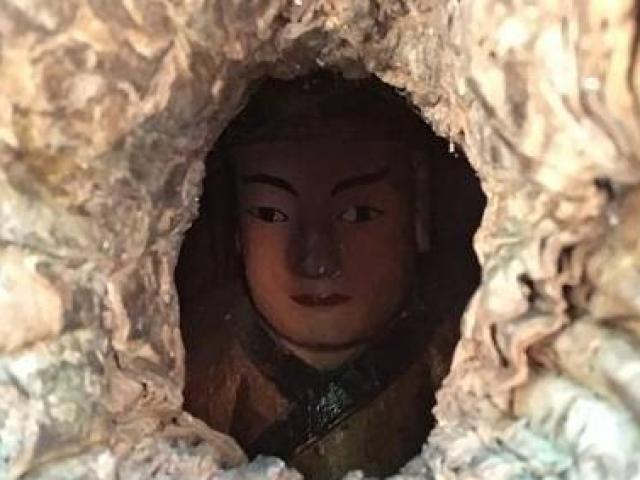 TQ: Đầu tượng Phật lộ ra từ thân cây 1.000 tuổi