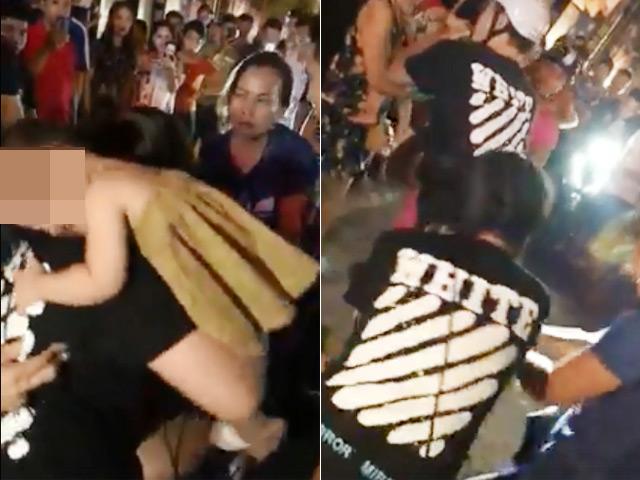 Chồng ôm chặt bồ khi vợ ôm con đi đánh ghen giữa phố Hà Nội
