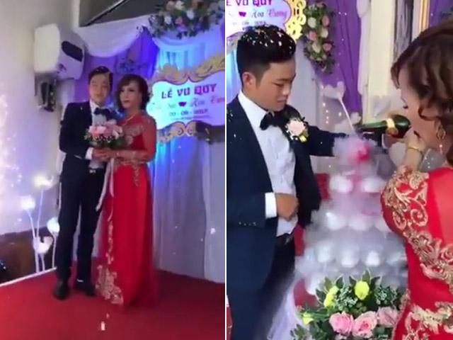 Clip: Chú rể 26 tuổi chính thức rước cô dâu 61 về dinh
