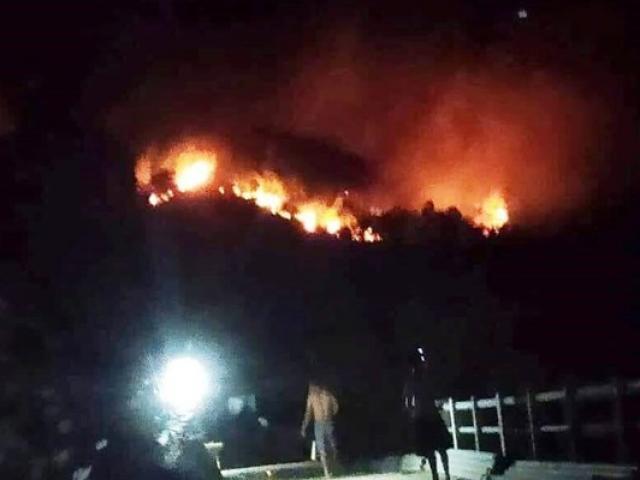 Lửa ở rừng Nghệ An lan sang gây cháy lớn ở Hà Tĩnh