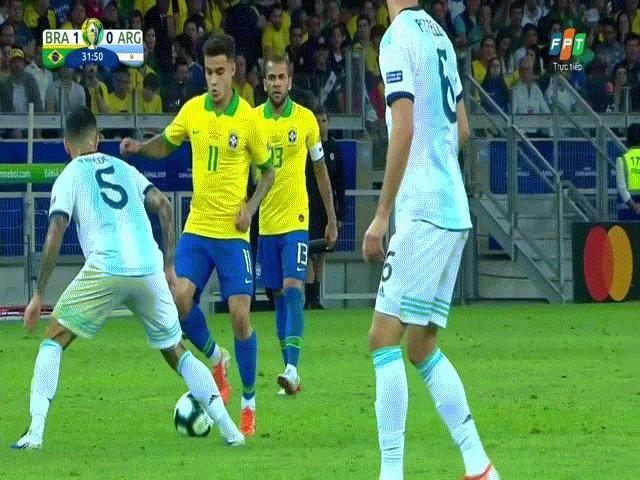 """Brazil hạ đẹp Argentina: Messi """"chóng mặt"""" vì vũ điệu Samba ở Copa America"""