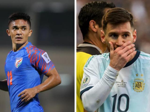 """Bóng đá châu Á choáng váng: Sao Ấn Độ ghi bàn vượt Messi, """"đe dọa"""" Ronaldo là ai?"""