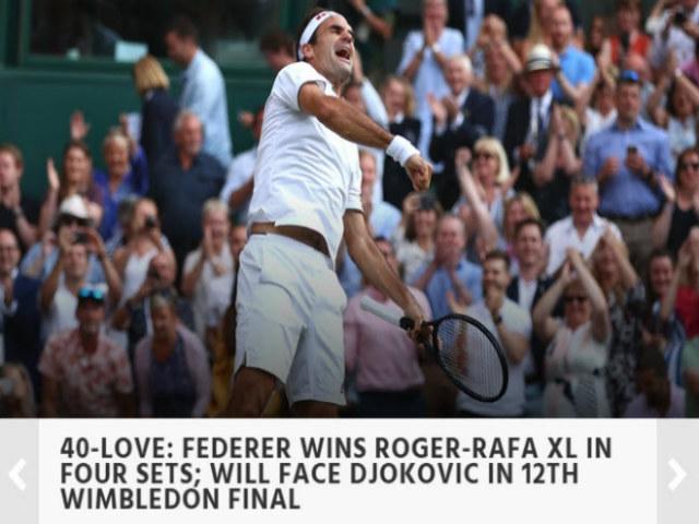 """Tuyệt đỉnh Federer - Nadal ở Wimbledon: Báo chí thế giới bái phục """"Tàu tốc hành"""""""