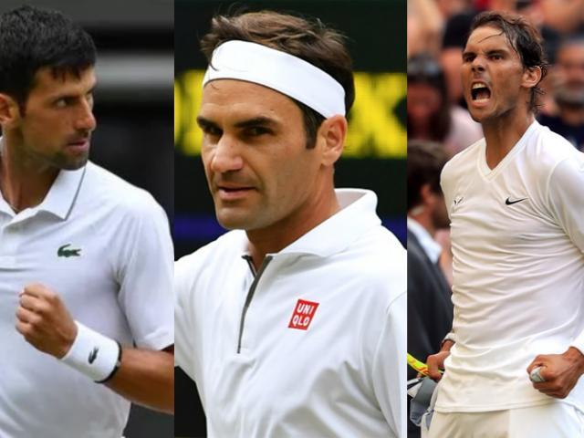 """Bảng xếp hạng tennis 15/7: Federer bay xa hậu Wimbledon, Nadal-Djokovic """"nóng gáy"""""""