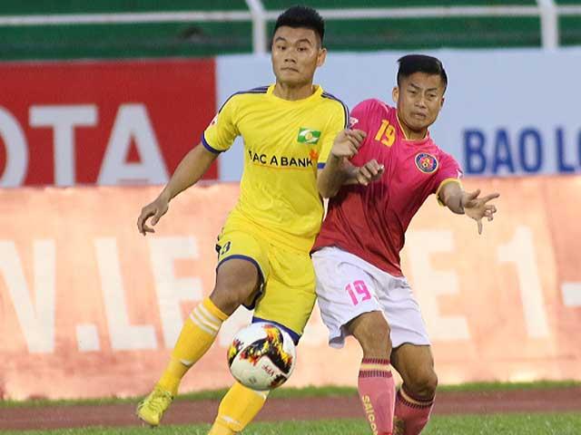 Trực tiếp bóng đá Sông Lam Nghệ An - Sài Gòn: Sai lầm 11m, đội khách gỡ hòa (KT)