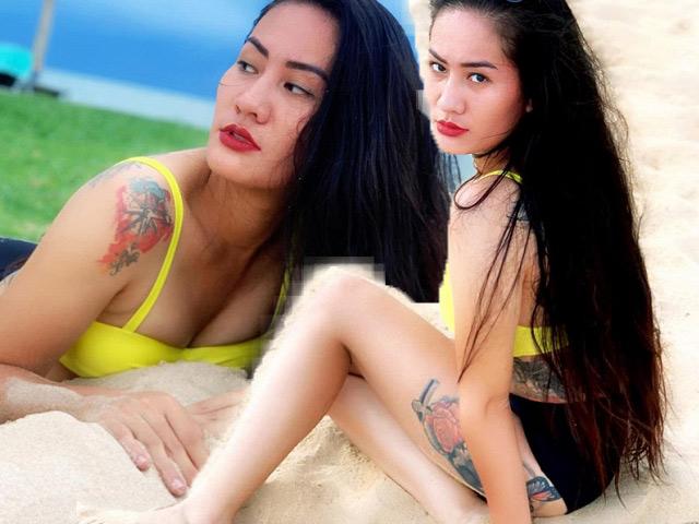 Người đẹp 'Về nhà đi con' lộ hàng loạt hình xăm lớn khi diện bikini