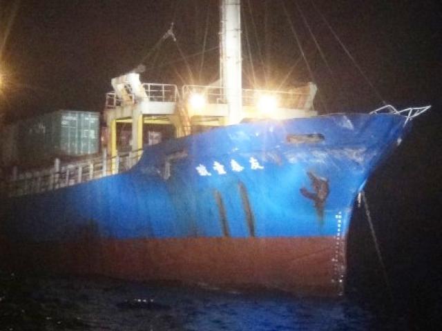 Báo Đài Loan: Tàu chiến Trung Quốc đâm tàu hàng Đài Loan