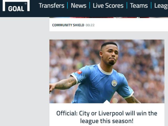 """Man City hạ Liverpool siêu cúp Anh: Báo chí dự đoán đua """"song mã"""" ở Premier League"""