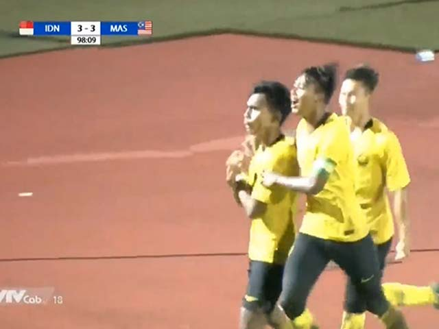 U18 Indonesia - U18 Malaysia: Kinh điển rượt đuổi 7 bàn, người hùng hiệp phụ