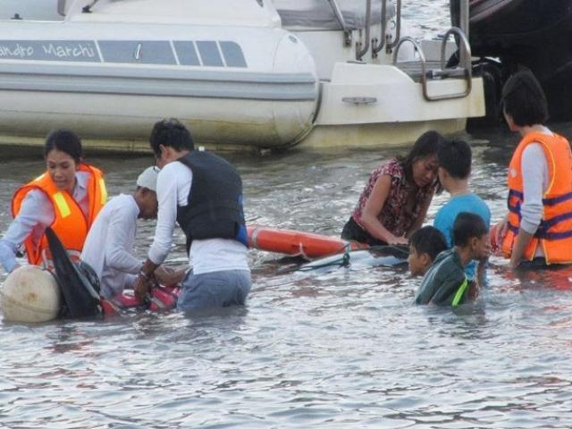 Cứu hộ bất thành cá voi 250kg lạc vào vịnh Vĩnh Hy