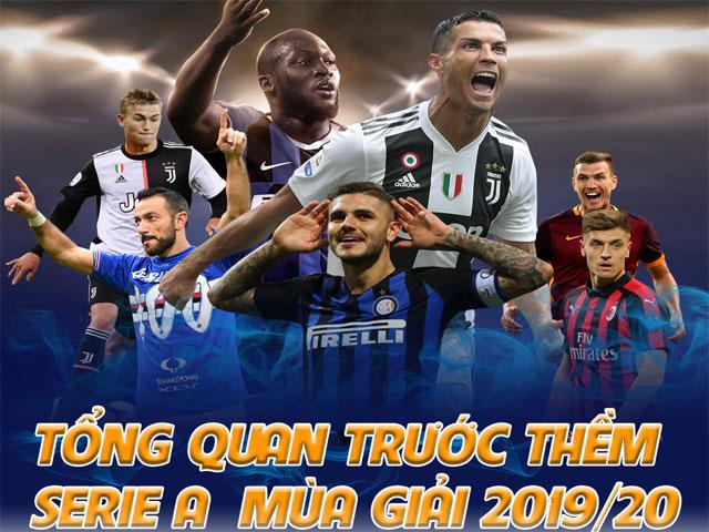 """Serie A 2019/20 hứa hẹn bùng nổ: Thế lực trỗi dậy, thách thức """"vua"""" Juventus - Ronaldo"""