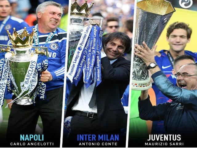"""Siêu HLV Serie A 2019/20: """"Người cũ"""" Chelsea tái ngộ, đua vô địch khó đoán"""