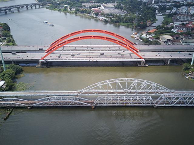 Cận cảnh cầu đường sắt trăm tỷ bắc qua sông Sài Gòn trước giờ G