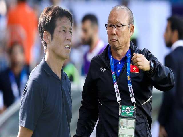 """""""Siêu kinh điển"""" Việt Nam - Thái Lan: Thầy Park đấu trí siêu HLV Nhật, ai xuất sắc hơn?"""