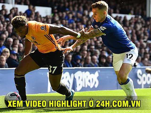 Video highlight trận Everton - Wolverhampton: Rượt đuổi 5 bàn siêu kịch tính (Vòng 4 Ngoại hạng Anh)