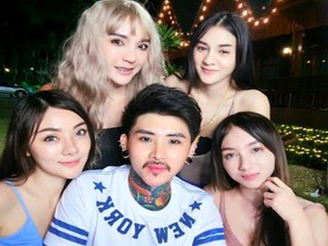 Anh chồng số hưởng có 4 người vợ xinh đẹp khiến ai cũng trầm trồ