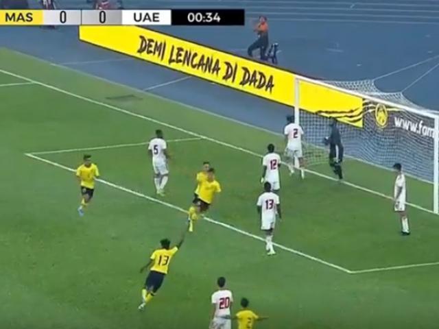 Đối thủ của ĐTVN - Malaysia bùng nổ: 32 giây gây sốc đại gia Tây Á vòng loại World Cup